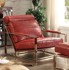 acme furniture quinto antique red accent chair to enlarge