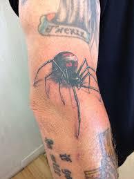 Arranbtattooblacl Widow Spider 3d Tattoo Black Widow
