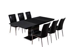 table and 6 chairs. black white extending stone coated glass top dining table with 6 chairs #new premium quality, free two man delivery and
