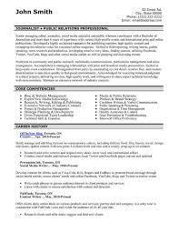 Public Relations Resume Template 7 Best Public Relations Pr Resume
