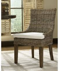dining room awesome rattan dining chairs hand woven kubu wicker gray color solid wod frame