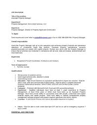Crm Job Description And Manager Real Estate Commercial Project 791