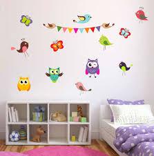 full colour birds erflies and owls wall sticker