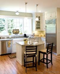 beauty small island kitchen