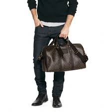 Lyst Coach Bleecker Monogram Duffle In Signature Coated Canvas.  Personalized Navy Canvas And Leather Duffle Bag