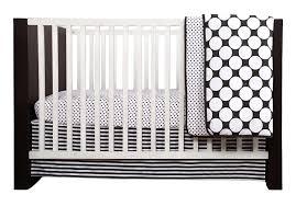bacati dots pin stripes black white 10 pc crib set including per pad