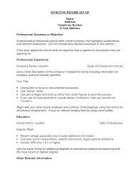 Resume Setup Examples How To Set Up A Resume Resume Setup Resume Templates Free Resume 12