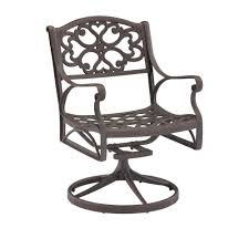 Home Styles Biscayne Bronze Swivel Patio Dining Chair-5555-53 ...