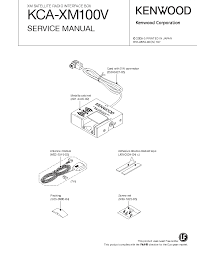 kenwood kca xm100v service manual schematics kenwood kca xm100v service manual