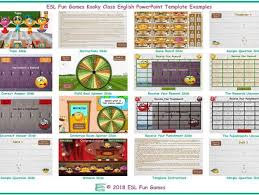 Kooky Class English Powerpoint Game Template An Original By Esl Fun