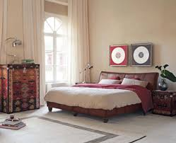 Marvelous Nice Small Interior Bedroom Ideas Modern Vintage That Has White Off  Curtains That Can Add The Beauty Inside The Modern Bedroom Design Ideas  With Cream ...