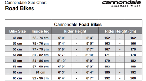 Cannondale Size Chart Height 42 Correct Cannondale Scalpel Size Chart