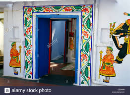 open door painting. Wall Painting Painted Open Door ; Udaipur Rajasthan India T