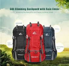 <b>New</b> 50L & 60L <b>Outdoor Backpack</b> Camping <b>Climbing Bag</b> ...