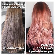 Wella Kp 10 95 65 Rose Gold Hair Color Formula In 2019