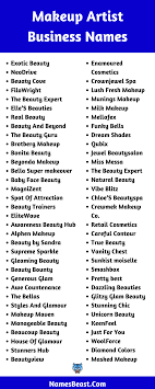 makeup artist business names 550