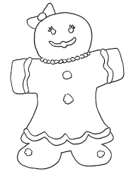 Gingerbread Coloring Sheets Gingerbread Man Coloring Pages