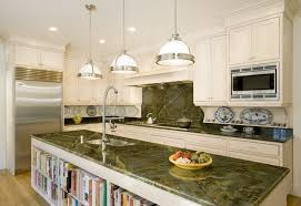 image of green marble countertops kitchen