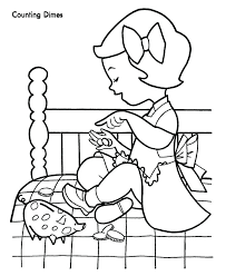 Play Money Coloring Pages At Getdrawingscom Free For Personal Use