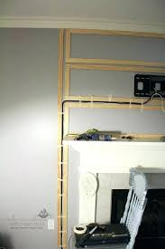 how to hide cords on wall mounted tv