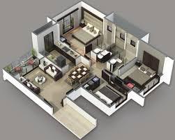 House Plans 3 Bedrooms 3d