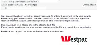 Phishing Scam Phishing Scam Email Mimics Westpac Claims Your Account Is