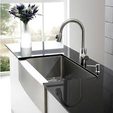 Home Stainless Farmhouse Sink Kitchen Sliding Glass Door Combine ...