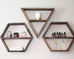 Geometric Shelf, Triangle Shelf, Hexagon Shelf, Shelves, Bohemian Shelves,  Modern Shelving