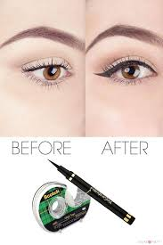 cool diy makeup hacks for quick and easy beauty ideas perfect your liquid eyeliner