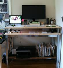 Brilliant Ikea Standing Desk Galant Hack By Jane With Design Ideas