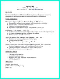 Resume Format Civil Engineer Or For Freshers Engineers Download With