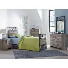 metal bedroom sets. barnett distressed pine youth metal bedroom set sets