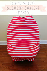 10 minute diy slouchy car seat cover