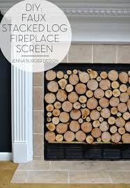 diy fireplace screen. DIY: Tutorial On How To Make A FAUX STACKED LOG FIREPLACE SCREEN. Check Out Diy Fireplace Screen -