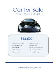 Car For Sale Template Car Sales Flyer Template Free Printable Word Flyer Designs
