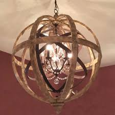 stylish crystal and metal orb chandelier benita 3 light antique regarding contemporary house metal globe chandelier plan