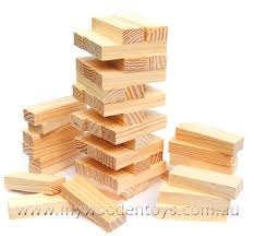 Tumbling Tower Wooden Block Game Tower Wooden Block Game at My Wooden Toys 2