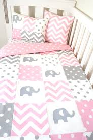 pink and gray elephant crib bedding full size of blankets elephant crib bedding sets with boutique