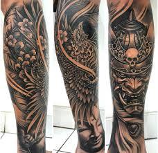 Sleeve Tattoo Samurai Mask Tattoo Tattoos Sleeve Tattoos