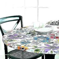plastic tablecloths with elastic round