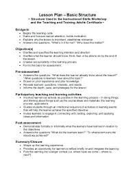 Lesson Plan Template Training Sample Elementary Name Title Grade ...