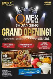bar grand opening flyer q mex bar grill grand opening shuangjing the beijinger