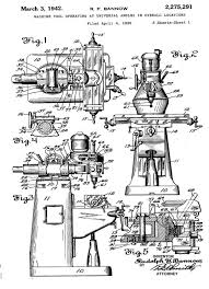 116 best machining images on pinterest Bridgeport Milling Machine Wiring Diagram patent drawings for the bridgeport knee mill 1939 \u201c that many frequently desired machining bridgeport milling machine circuit diagram