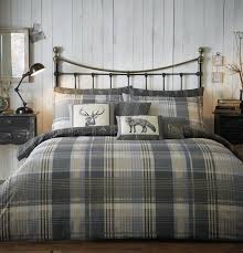 l connolly check charcoal flannelette quilt cover 000 jpg