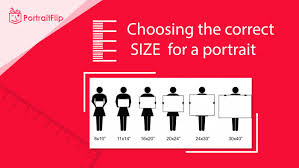 Size Chart How To Choose Right Size For Your Portraits Guide
