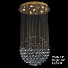 image chandelier lighting. Picture Of Sphere Modern Crystal Chandelier Large Mirror Stainless Steel Base 6 Lights Image Lighting