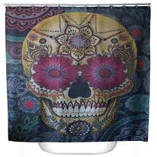 Sugar Skull Bathroom Decor Online Get Cheap Skull Shower Curtain Aliexpresscom Alibaba Group