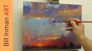 free oil painting lesson painting a sunset with mountains muncie indiana you