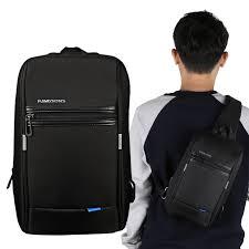 kingsons chest bag for men black single shoulder bags