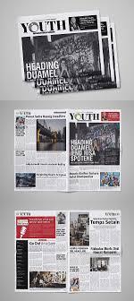 Newspaper Template Illustrator 30 Professional Indesign Newspaper Templates